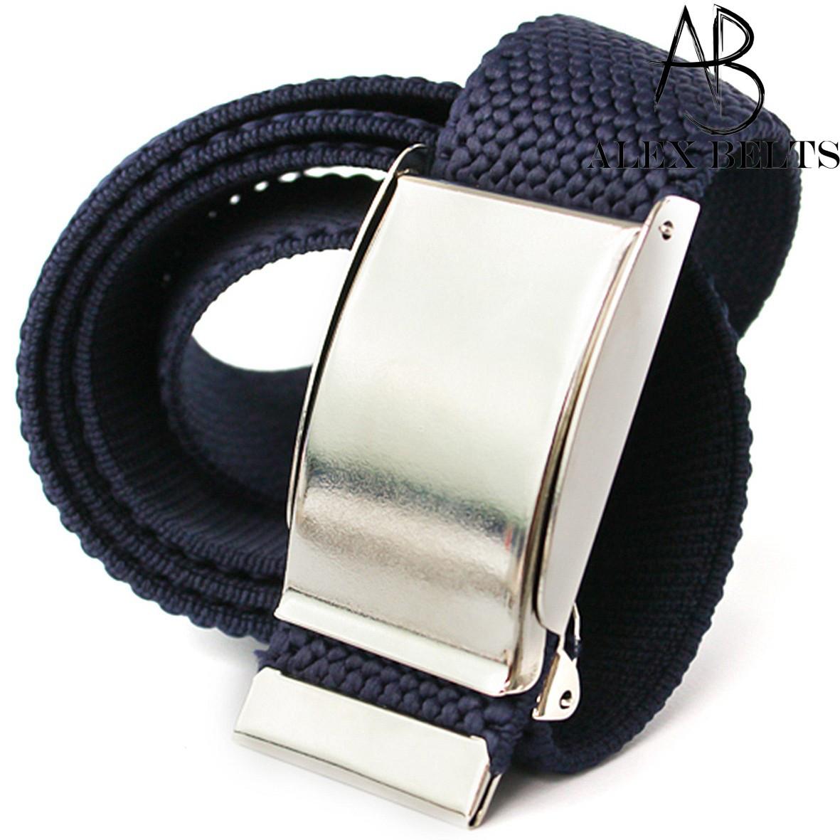 Ремень джинсовый резинка пряжка зажим (тёмно-синий) 40 мм - купить оптом в Одессе
