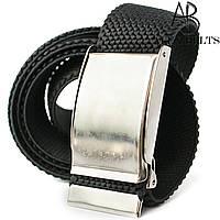 Ремень джинсовый резинка пряжка зажим (чёрный) 40 мм Арт.:RRPL409373