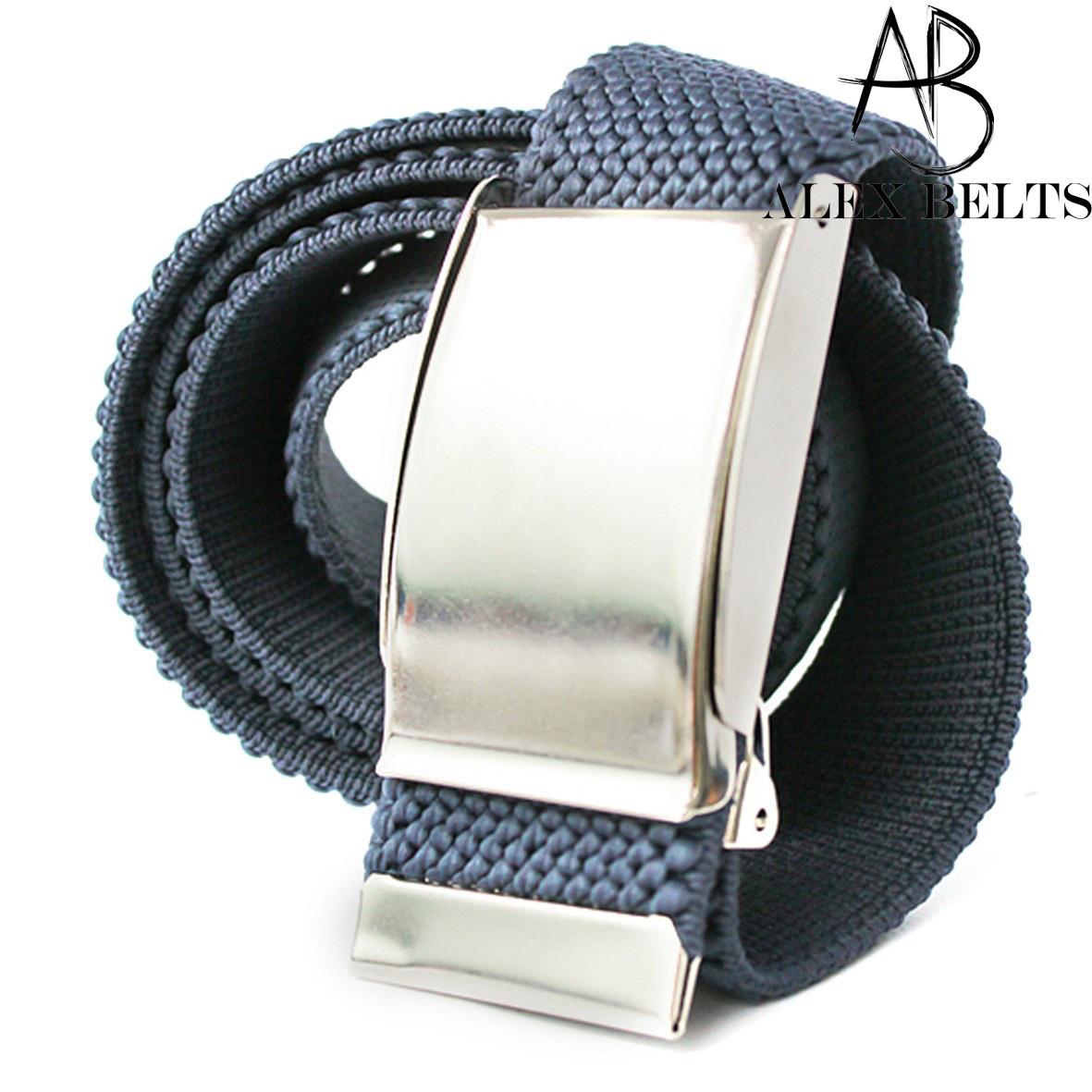 Ремень джинсовый резинка пряжка зажим (синий) 40 мм - купить оптом в Одессе