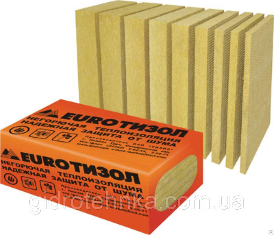 Теплоизоляция  EURO ТИЗОЛ 50 100 120 150 мм, 130 плотн.