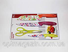 Ножи кухонные набор. Кухонные ножи 4 в 1. Набор металлокерамических ножей