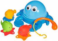 Краб и рыбки с удочкой, игрушка для ванной, ABC (401 8295)