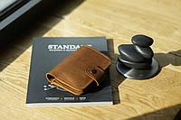 Женский кошелек кожаный из натуральной кожи на кнопке