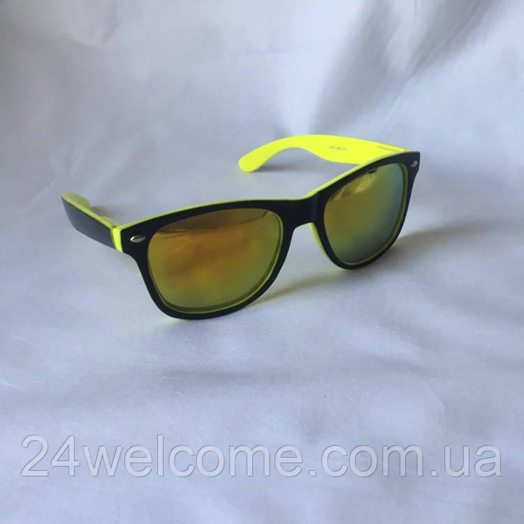 Солнцезащитные очки унисекс Ray Ban Wayfarer желтый - Интернет магазин  WELCOME в Харькове 37fdd61185f