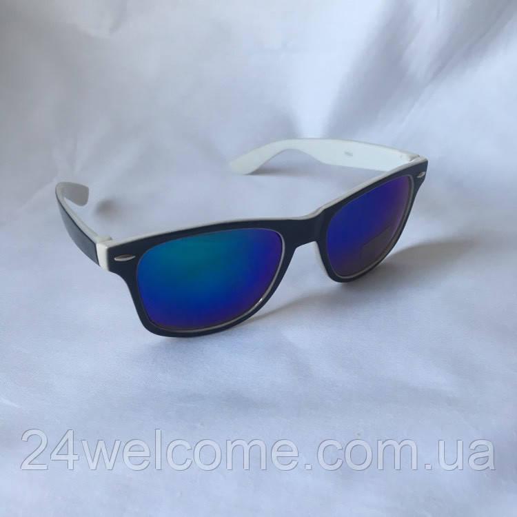 Солнцезащитные очки унисекс Wayfarer Ray Ban бело-голубой - Интернет  магазин WELCOME в Харькове df1f0280144