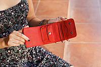 Женский кошелек кожаный Красный
