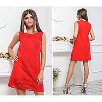 Женское льняное платье с кружевом Латина 540