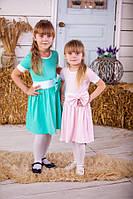 Сукня для дівчаток з бантиком рожева