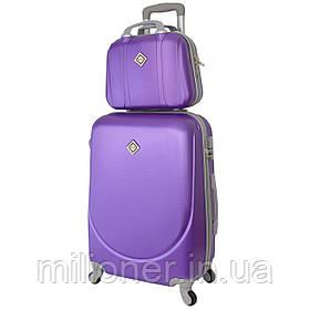 Комплект чемодан + кейс Bonro Smile (средний) фиолетовый