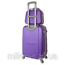 Комплект чемодан + кейс Bonro Smile (большой) фиолетовый, фото 2