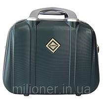 Комплект чемодан + кейс Bonro Smile (небольшой) изумрудный, фото 3