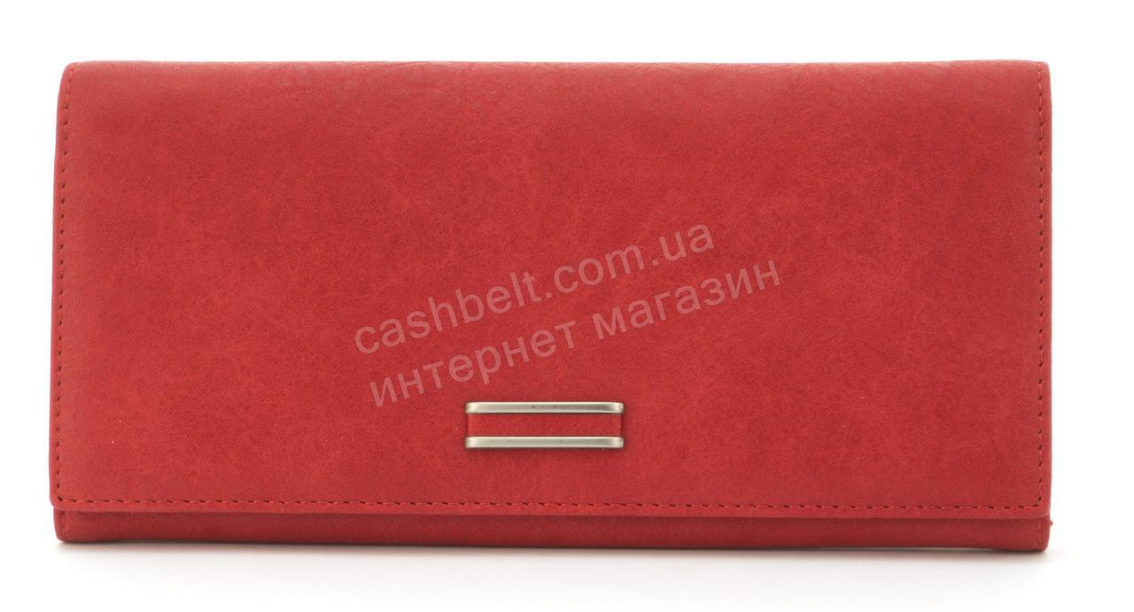 Стильный многофункциональный женский прочный кошелек из эко кожиSARALYN art. C2082 красный
