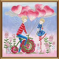 Набор для вышивания нитками и бисером Знакомство(эльфы)/Признание в любви(эльфы)/Семья(эльфы) Новая слобода
