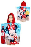 Полотенце-пончо для девочек оптом, Disney, 55*110 см,  № MIN-H-PONCHO-42