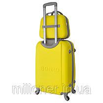 Комплект чемодан + кейс Bonro Smile (небольшой) желтый, фото 2
