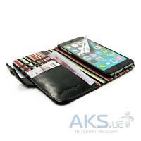 Чехол Alston Craig Vintage Genuine Leather Wallet Case Cover Apple iPhone 6, iPhone 6S Black (G10_20)