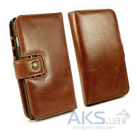 Чехол Alston Craig Vintage Genuine Leather Wallet Case Cover for Apple iPhone 6/6S Brown (G10_21)