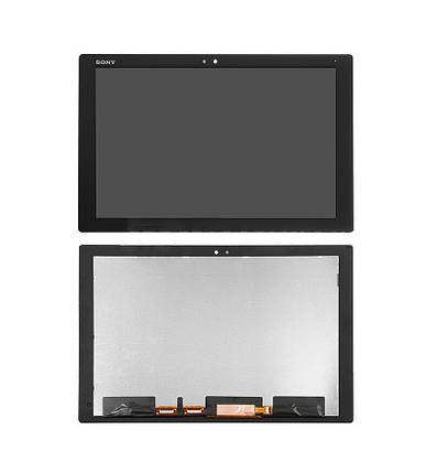 Дисплей (экран) для планшета Sony Xperia Tablet Z4 с сенсором (тачскрином) черный Оригинал, фото 2