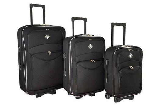Чемодан сумка дорожный Bonro Style набор 3 штуки черный