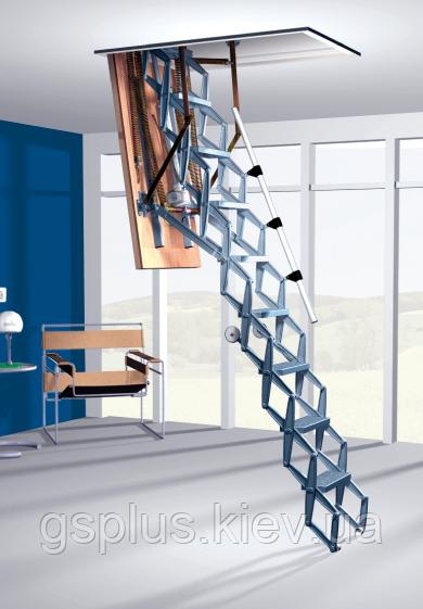 Чердачная лестница с электроприводом металлическая Roto Scherentreppe Electro
