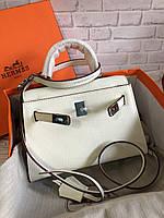 Женская сумка Гермес Келли 22 см натуральная кожа (реплика), фото 1