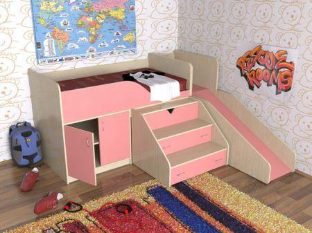 Подростковая кровать чердак с горкой