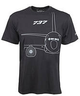 Оригінальна футболка Boeing 737 Midnight Silver T-Shirt 1100100109550001 (Black)