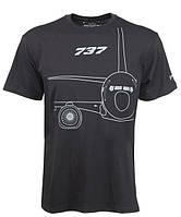 Оригинальная футболка Boeing 737 Midnight Silver T-Shirt 1100100109550001 (Black)