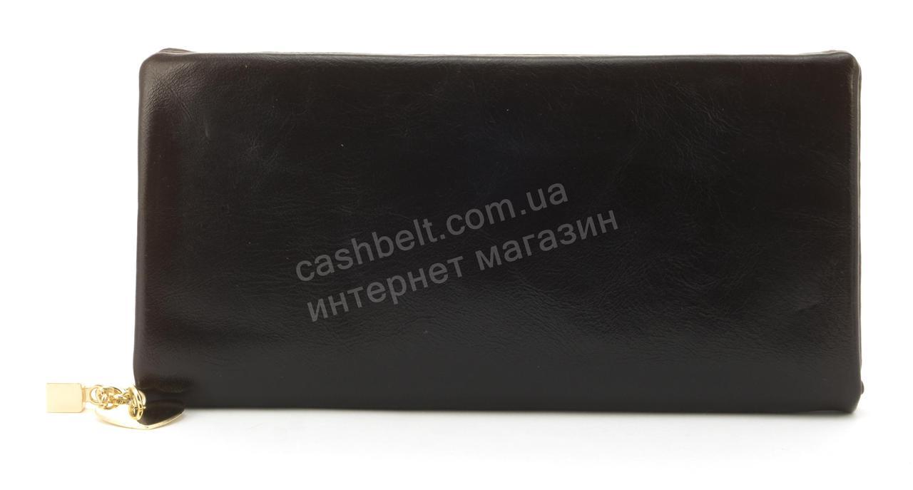 Оригинальная прочный удобный женский кошелек барсетка высокого качества CANEVO art. J0899 коричневый