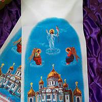 Рушник ритуальный * Помним , Скорбим * ,  Габардин № 8, фото 1
