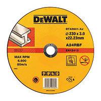 Круг отрезной по металлу 230x3x22.2мм DeWALT DT42601