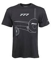 Оригинальная футболка Boeing 777 Midnight Silver T-Shirt 1100100109580001 (Black)