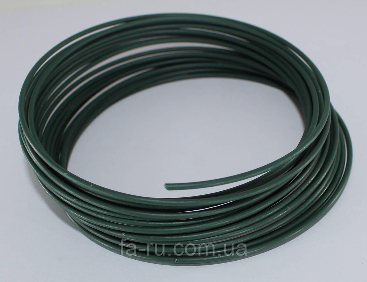 Проволока для рукоделия. Зеленая 2,3 мм  5 метров. ЖЕСТКАЯ
