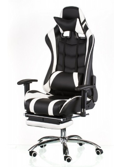 Компьютерное игровое кресло Special4You ExtremeRace  black/white footrest