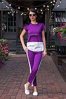 Летний костюм с лампасами для кормления - Ультра-фиолетовый