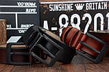 Ремень мужской кожаный классический COWATHER модель E (коричневый), фото 3