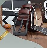 Ремень мужской кожаный классический COWATHER модель E (коричневый), фото 6