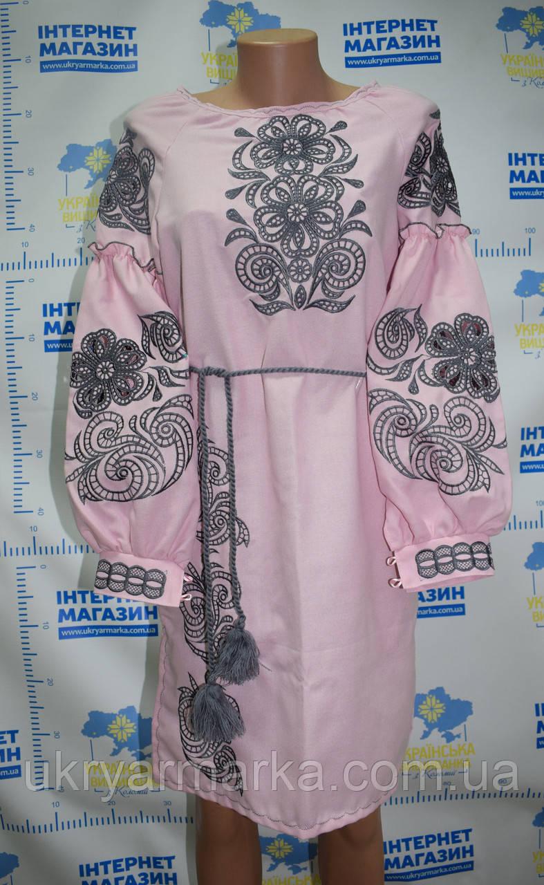 """Модне вишите плаття """"Олександра"""" рожеве"""