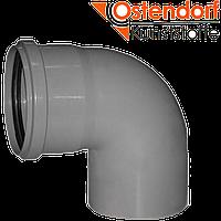 Отвод канализационный, внутренний, серый, Ostendorf HT, 90 87* (Германия)