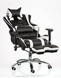 Комп'ютерне ігрове крісло Special4You ExtremeRace black/white footrest, фото 7