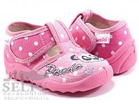 """Текстильные тапочки для девочки  р.21,22,23,24,25,26,27 тм """"Валди"""", (мокасины, слипоны, текстильная обувь), фото 1"""