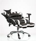 Комп'ютерне ігрове крісло Special4You ExtremeRace black/white footrest, фото 8
