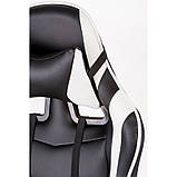 Комп'ютерне ігрове крісло Special4You ExtremeRace black/white footrest, фото 9