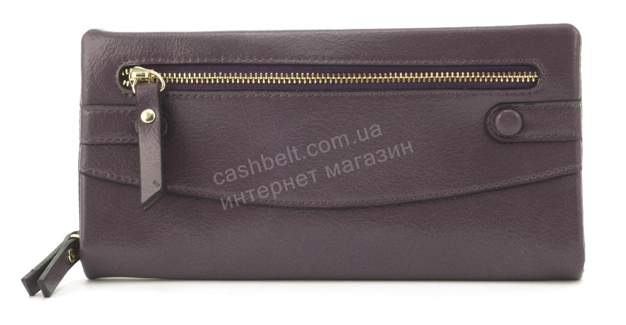 Оригинальная прочный удобный кошелек барсетка высокого качества из эко кожи SACRED art. W-5328 фиолетовый