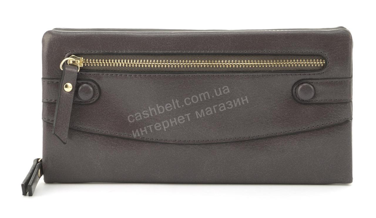 Оригинальная прочный удобный кошелек барсетка высокого качества из эко кожи SACRED art. W-5328 темно серый
