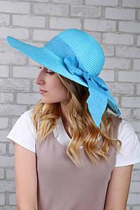 Широкополая шляпа Фрейзер голубой