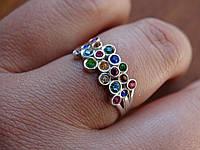 Серебряное дизайнерское кольцо с Кр. Сваровски в стиле Сartie(Картье), фото 1