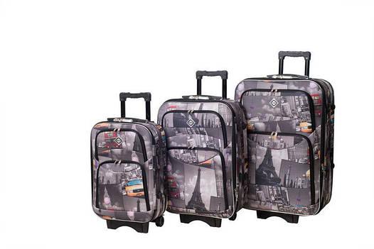 Чемодан сумка дорожный Bonro Style набор 3 штуки City