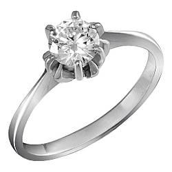Кольцо из серебра с куб. циркониями 183203