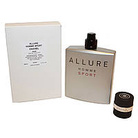 Тестер. Мужская туалетная вода Chanel Allure Homme Sport (Шанель Аллюр Хомм Спорт) 100 мл (без крышечки)., фото 1